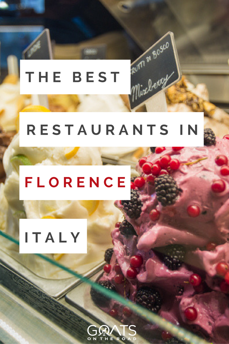 gelato in florence italy with text overlay