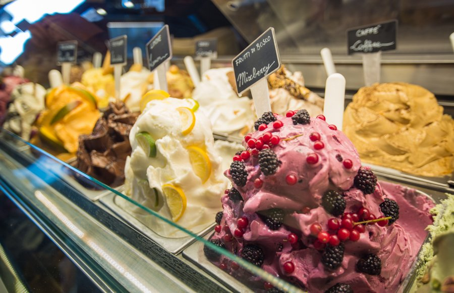 Gelato from one of the best restaurants in Florence Italy