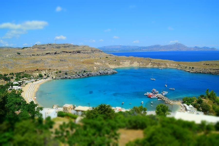 best beaches in greece-st pauls bay-rhodes-greece-beach