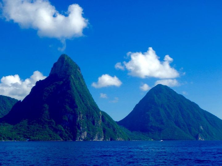 St Lucia Beaches the pitons