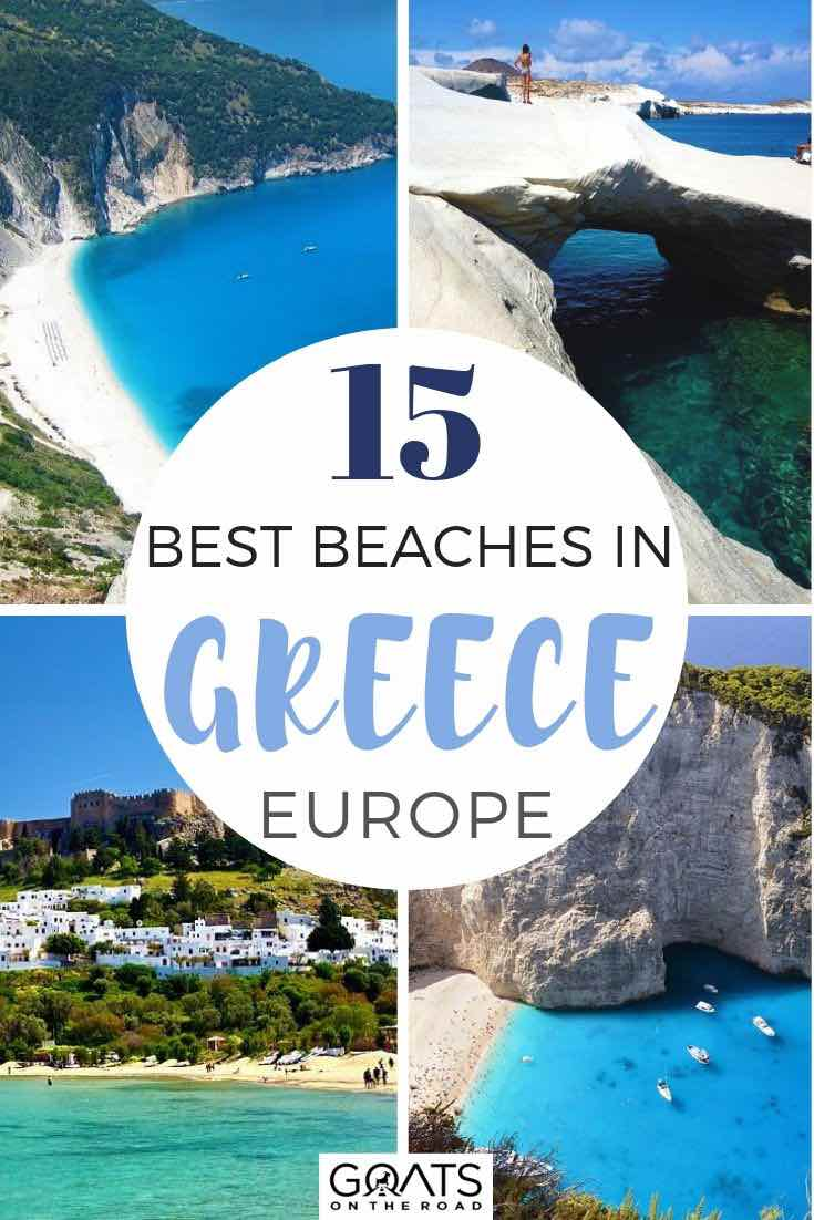 best greek beaches with text overlay 15 best beaches in greece