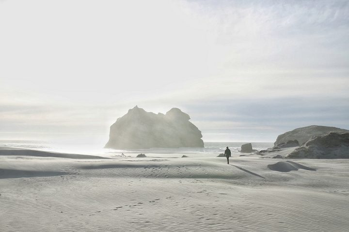 New Zealand Country Guide. Our favorite beach in New Zealand, Wharariki Beach. Photo by beardandcurly.com