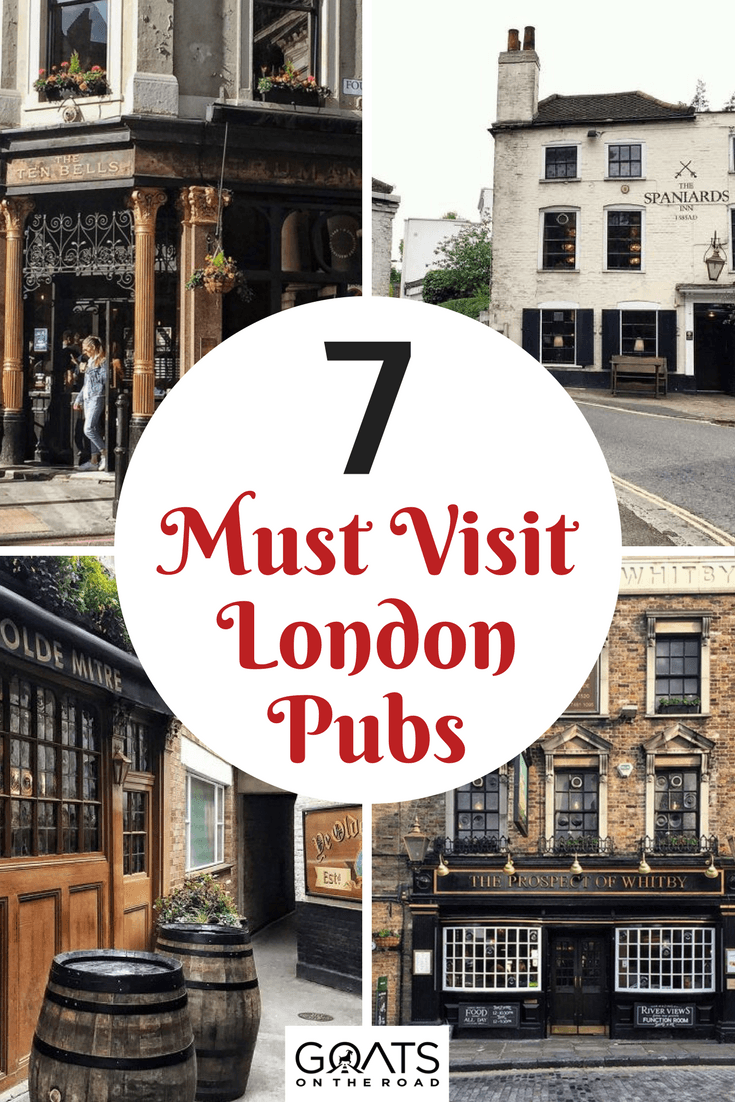 historic pubs in london with text overlay