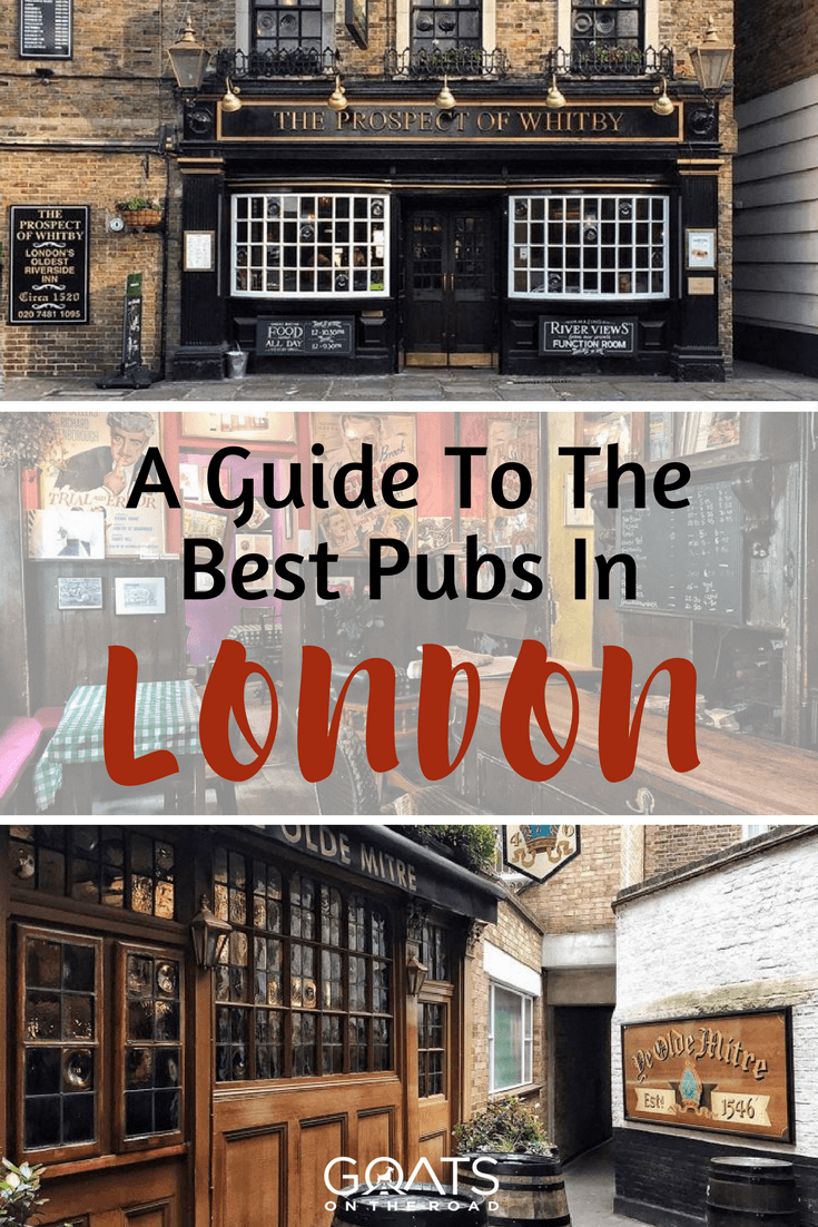 london historic pubs with text overlay