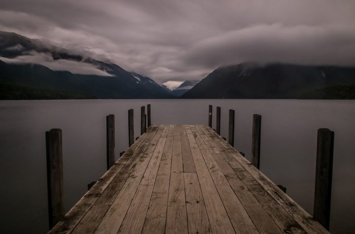 New Zealand Country Guide. The Pier at Lake Rotoiti, Nelson Lakes National Park. Photo by beardandcurly.com.