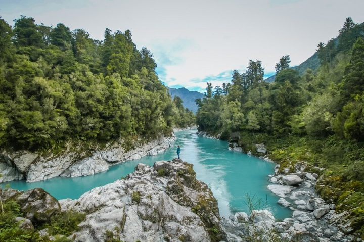 New Zealand Country Guide. Hokitika Gorge. Photo by beardandcurly.com.