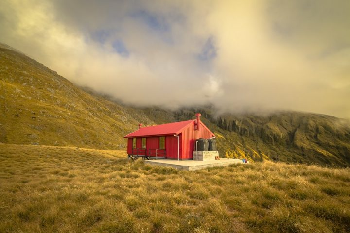 New Zealand Country Guide. Brewster Hut. Photo by beardandcurly.com.