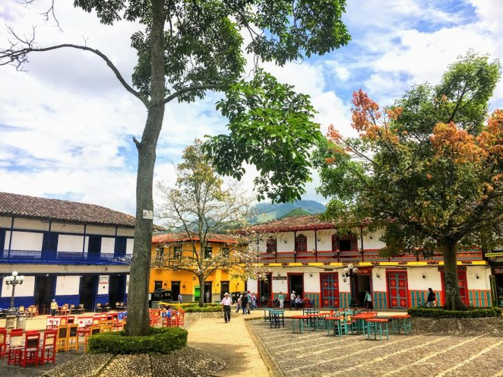 town square, Jardin, Colombia
