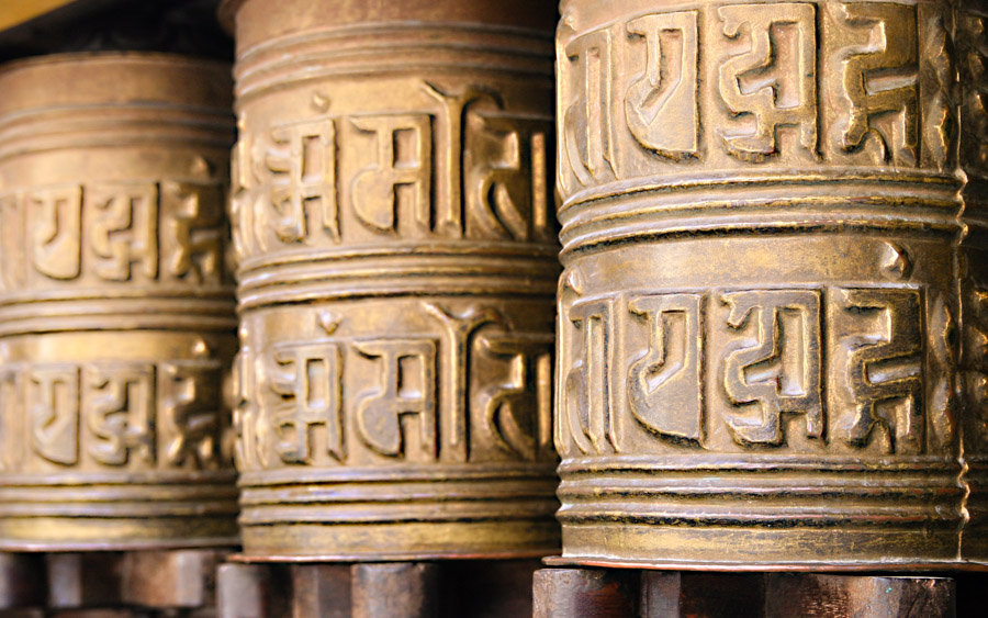 Lumbini - prayer wheels - 12 amazing places to visit in nepal