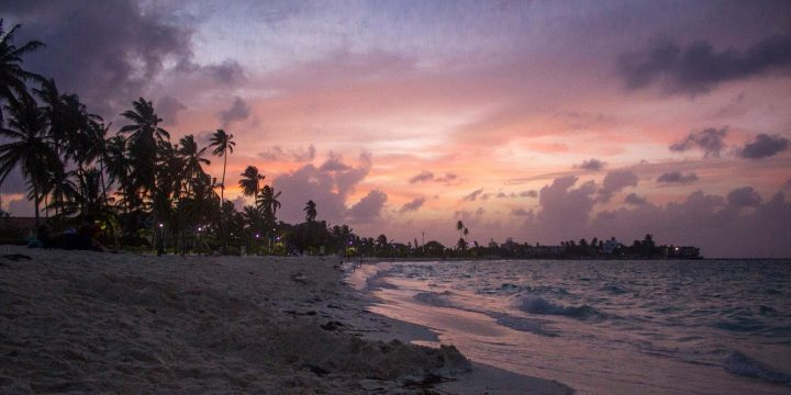 Sunset, Beach, San Andres Island