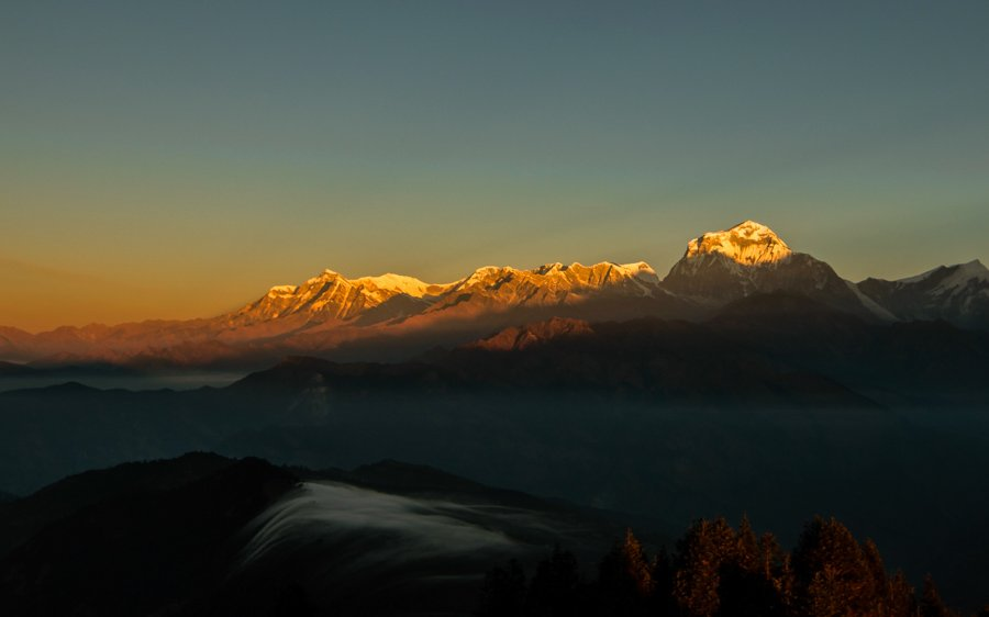Sunset at Nagarkot - 12 amazing places to visit in nepal