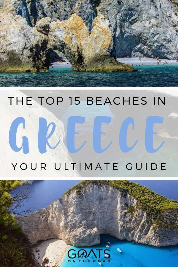 greece beaches with text overlay