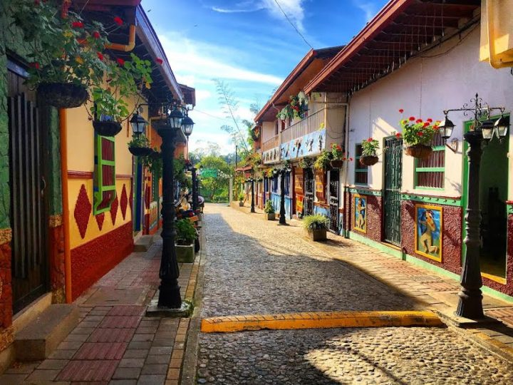 street, town, Colombia, Guatape