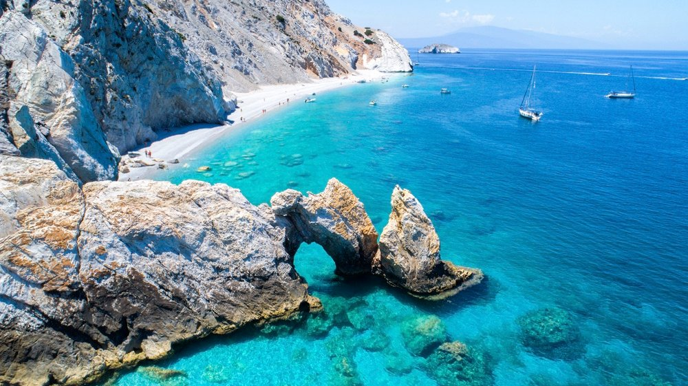 best beaches in greece-Lalaria-skiathos