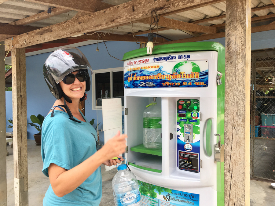 digital nomad guide to koh samui water refill station