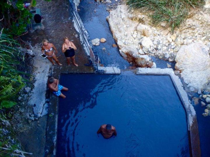 mud baths at sulphur springs st. lucia
