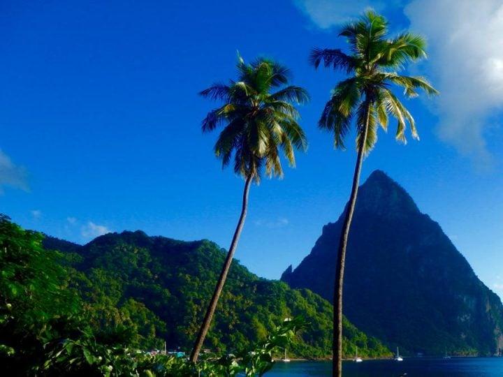 The Petit Piton St Lucia near the sulphur springs st. lucia