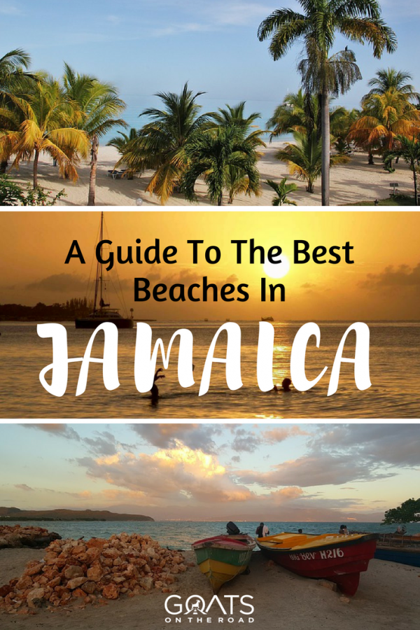 Jamaica beaches with text overlay a guide to the best beaches in jamaica