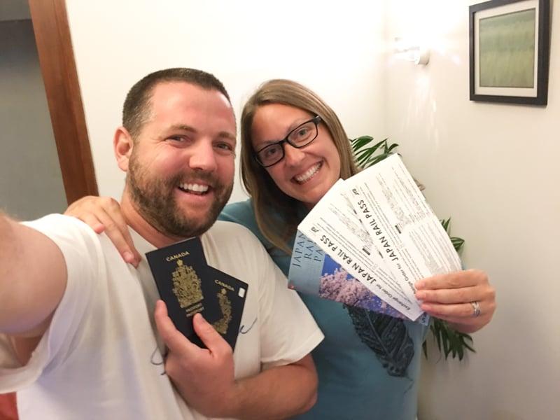 Rail Passes & Flight Tickets Ready. Heading To Japan!