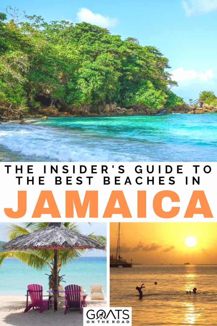 boston bay beach with text overlay the insiders guide to the best beaches in jamaica
