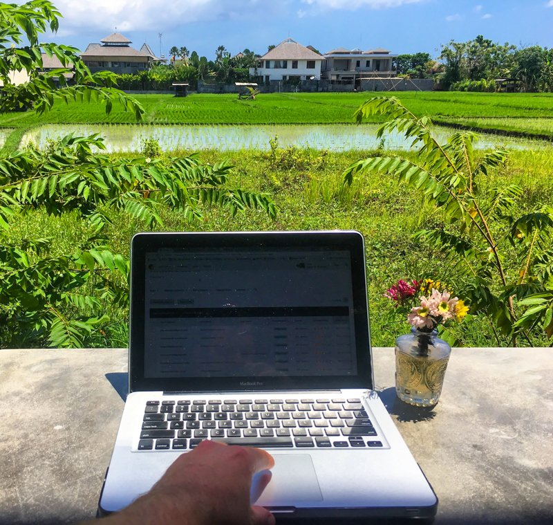 Working in Canggu Bali