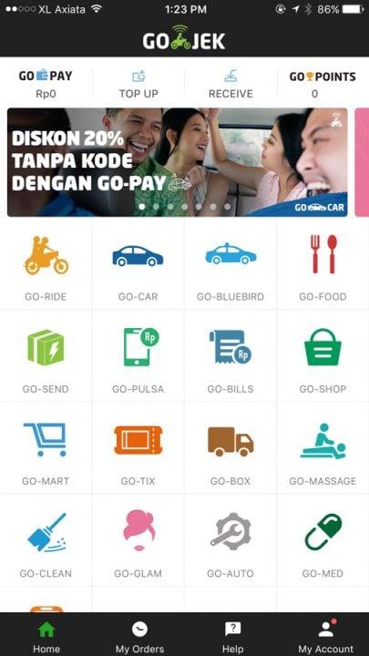 go jek app in canggu bali