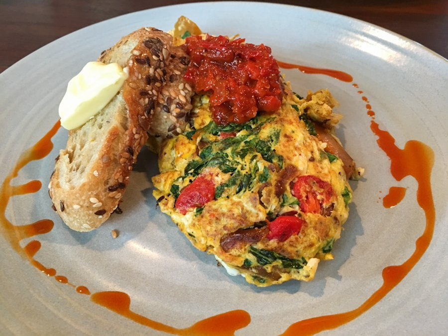 an omelette at nude cafe in canggu bali