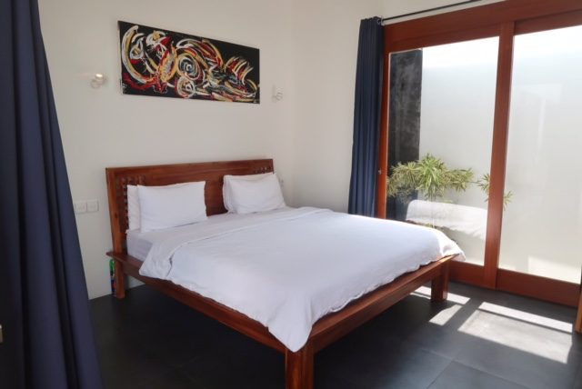 bedroom in a pool villa in canggu bali