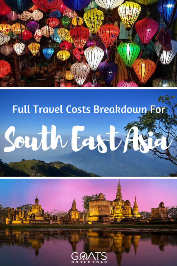 Beautiful places with text overlay Full Travel Costs Breakdown For South East Asia