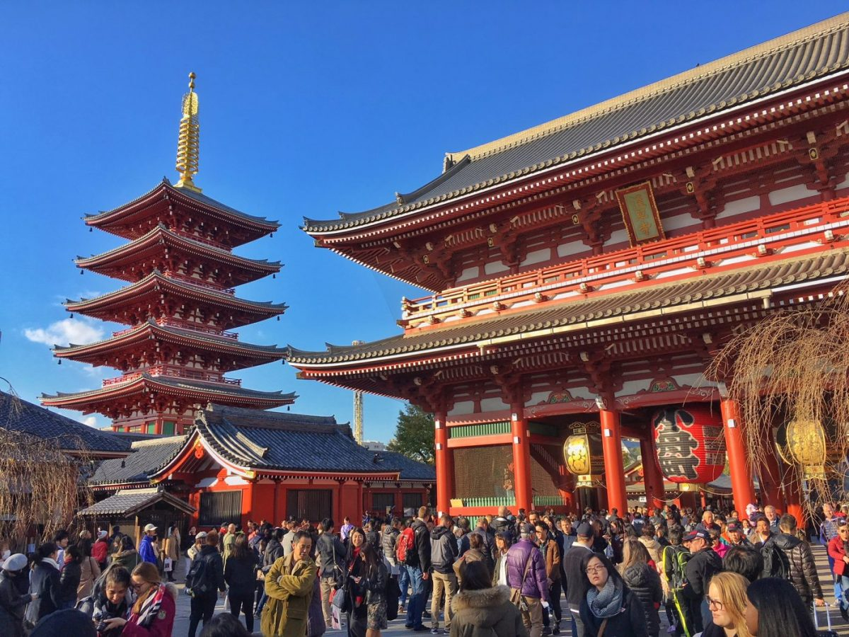 The busy, but gorgeous Sensoji Temple in Tokyo