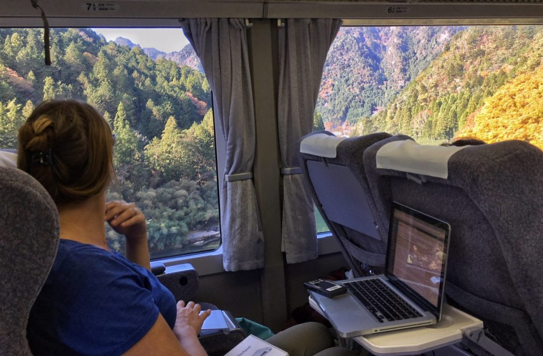 train travel is a great way to get around while living in japan