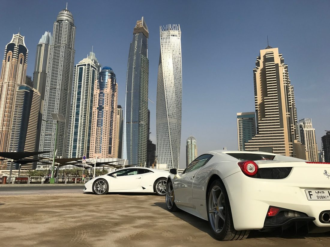 ferrari driving in dubai middle east