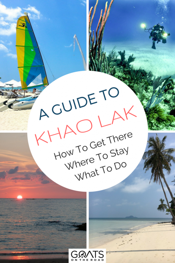 various images portraying khao lak with text overlay