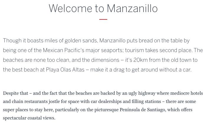 Guide to Manzanillo Colima
