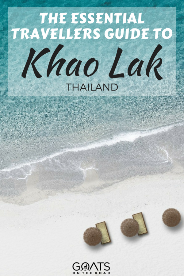 beach in Khao Lak with text overlay