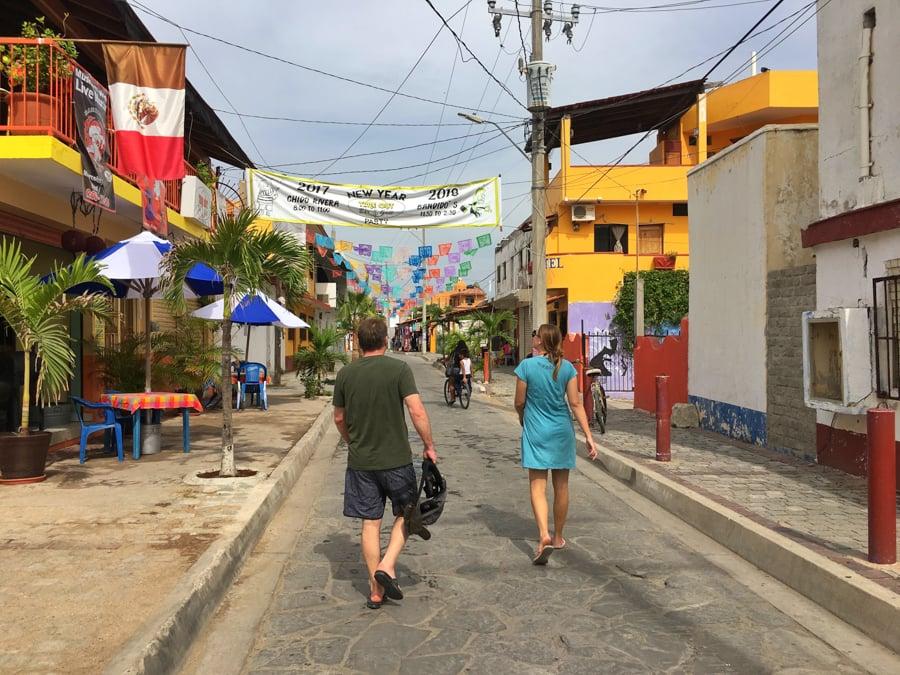 Wandering around the colourful streets of Barra de Navidad