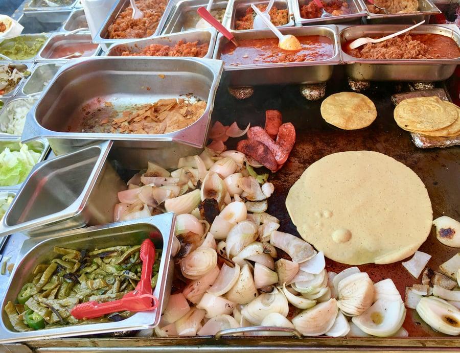 food truck taco stand in manzanillo colima
