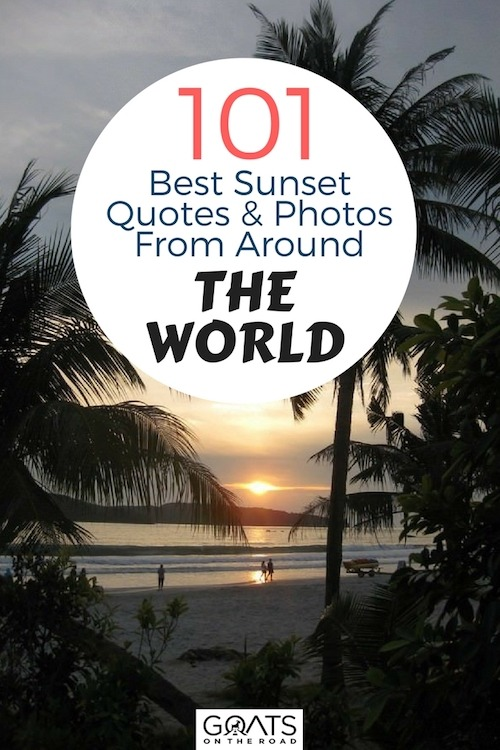 Langkawi in Malaysia sunset with text overlay 101 Best Quotes & Sunsets From Around The World