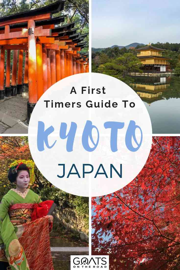 popular sites in Kyoto japan with text overlay