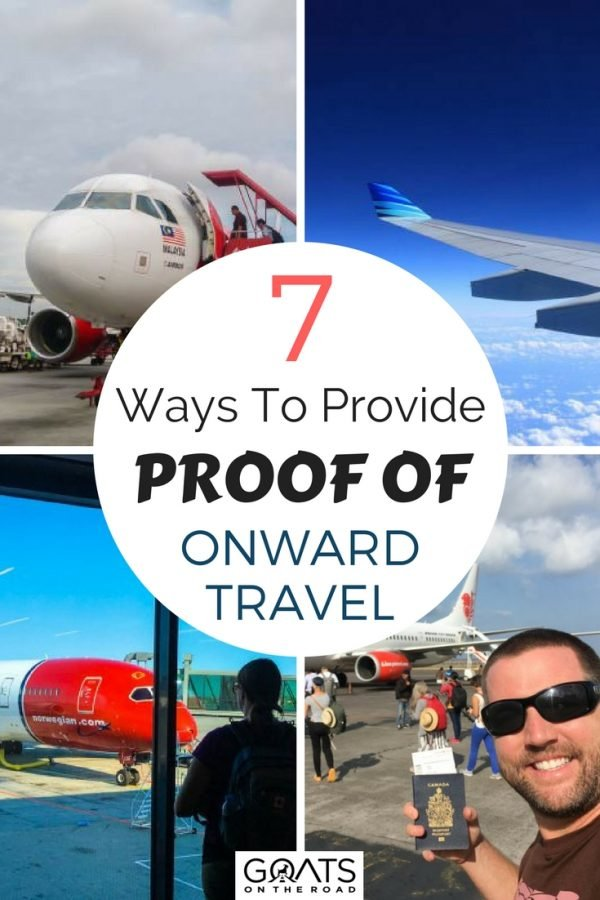 Image of planes with text overlay 7 Ways To Provide Proof Of Onward Travel