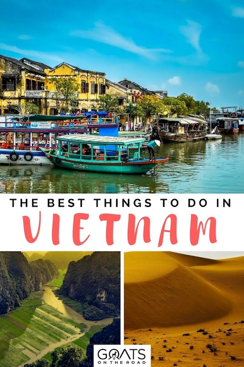 Popular places in Vietnam with text overlay The Best Things To Do In Vietnam