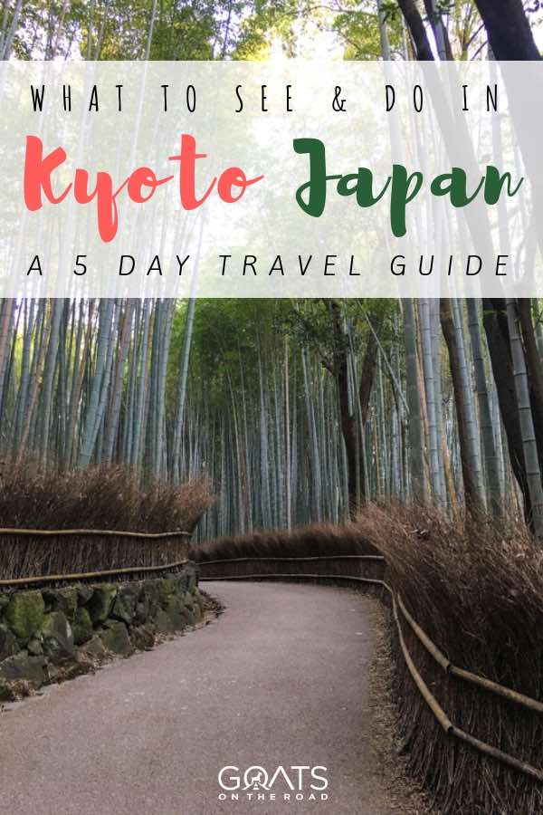 Kyoto Bamboo Forest with text overlay