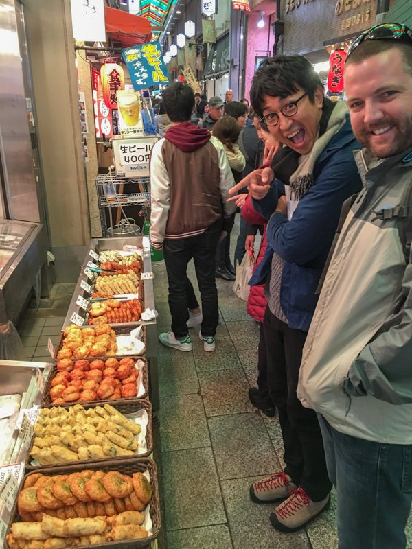 tour of the nishiki market in kyoto
