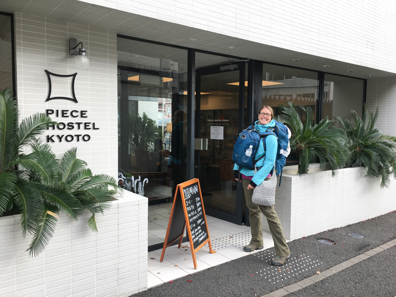 where to stay in kyoto piece hostel near the train station