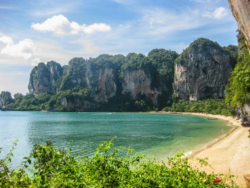 cost of living in thailand is very affordable railay beach