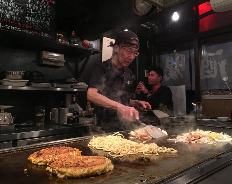 okonomiyaki living in hiroshima japan