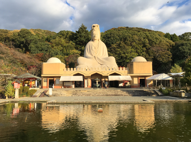 the statue at the ryozen kannon is one of the things to see in kyoto