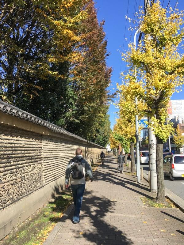 walking around kyoto japan