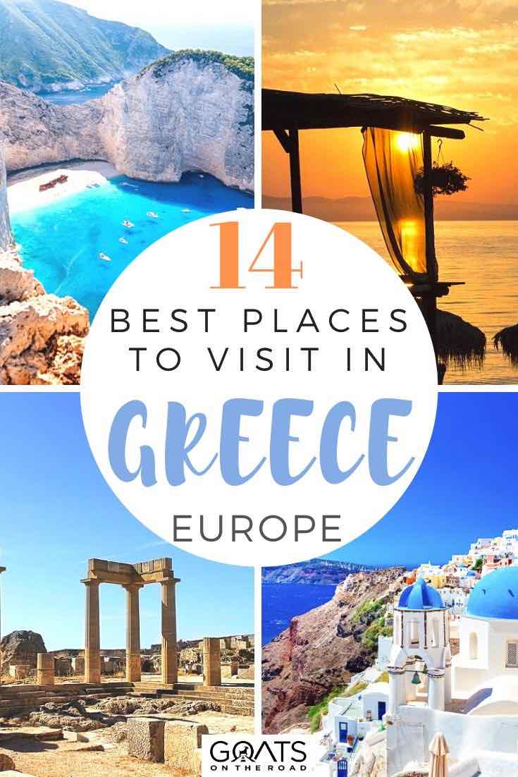 highlights of greece with text overlay 14 best places to visit in greece