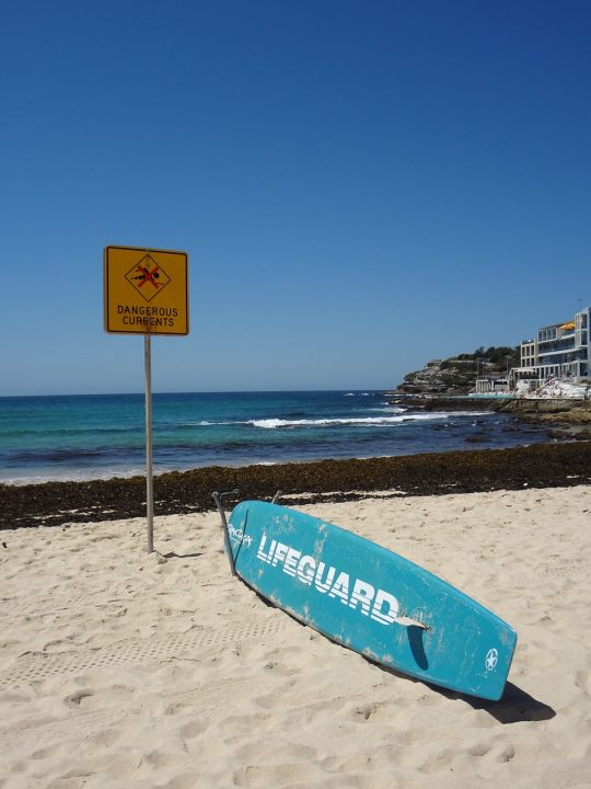 stay at bondi beach in sydney lifeguard on duty